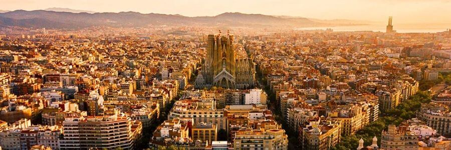 Sky view barcelona sunset
