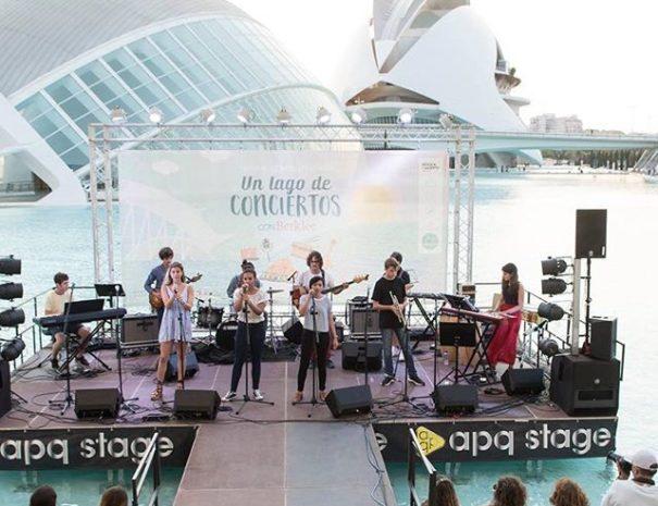 evento con concierto en la Ciudad de las Artes y las Ciencias de Valencia