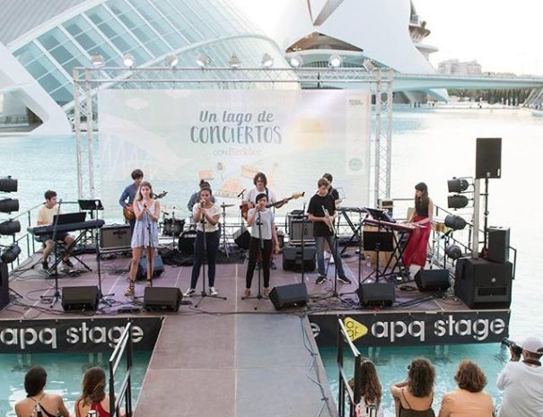 Concert event at the City of Arts and Sciences in Valencia