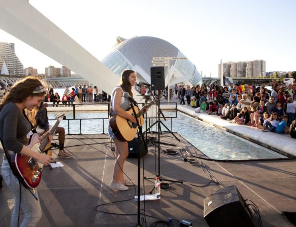 Concert at the City of Arts and Sciences in Valencia in Spain