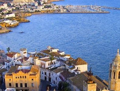 Beautiful panorama in Sitges for a corporate event or incentive trip