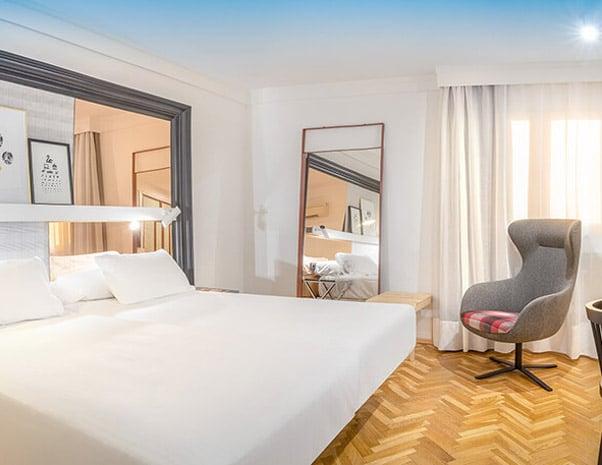 Bedroom in SH Ingles Boutique hotel in Valencia in Spain