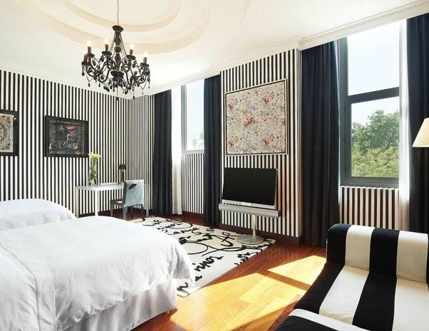 Bedroom in Westin hotel in Valencia in Spain