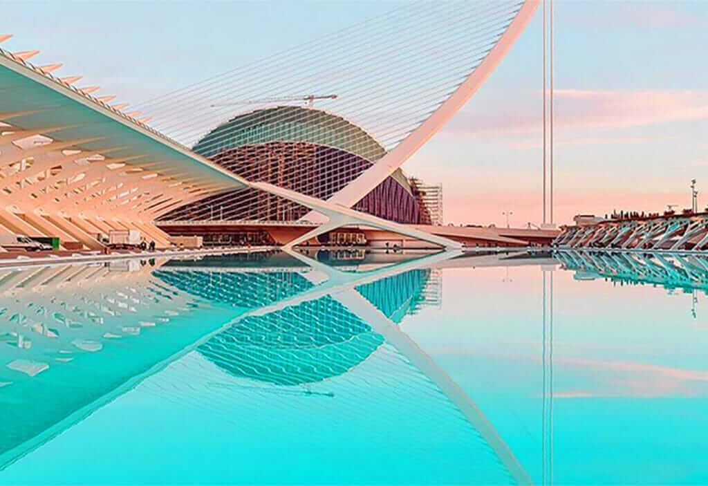City of Arts and Sciences in Valencia in Spain