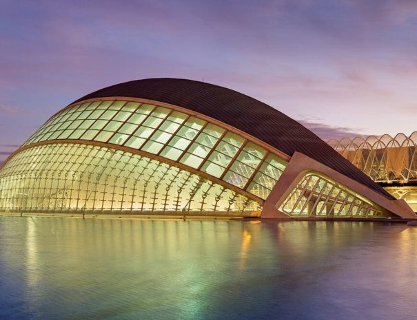 Venue in the City of Arts and Sciences in Valencia in Spain
