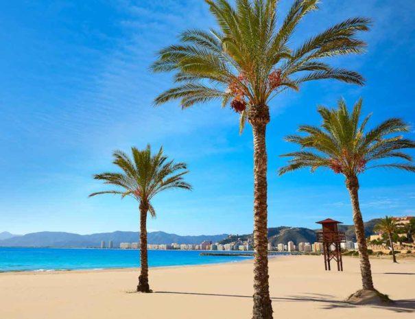 Los Olivos beach in Cullera County in Valencia in Spain