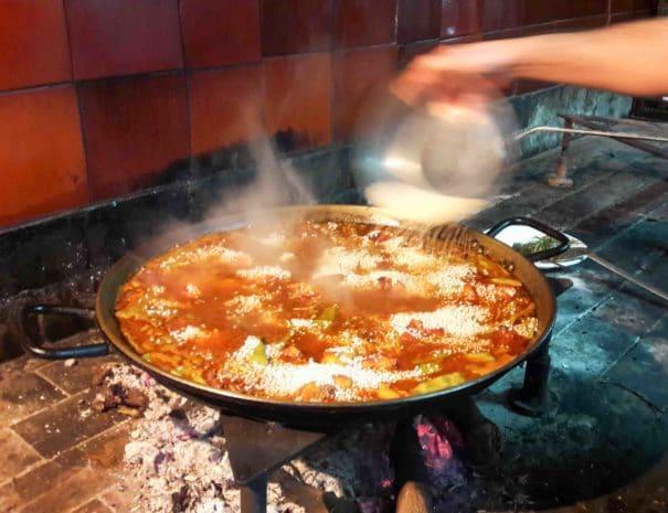 Traditional paella valenciana