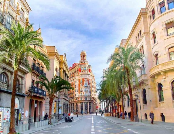 Calle palmeras en valencia