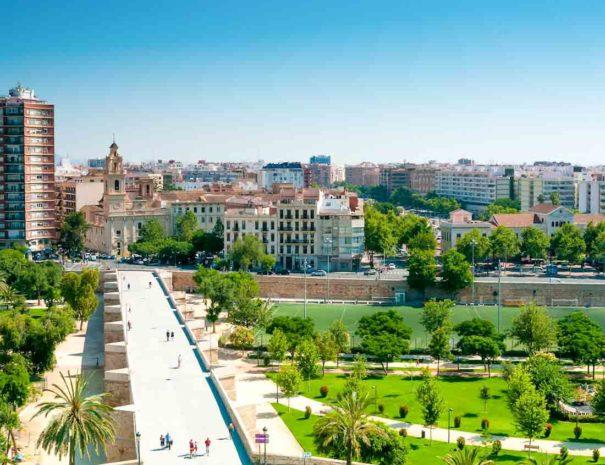 Turia park in Valencia in Spain