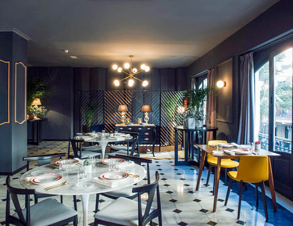 Restaurante del hotel One Shot Palacio Reina Victoria en Valencia España