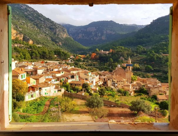 View over an authentic village in Mallorca