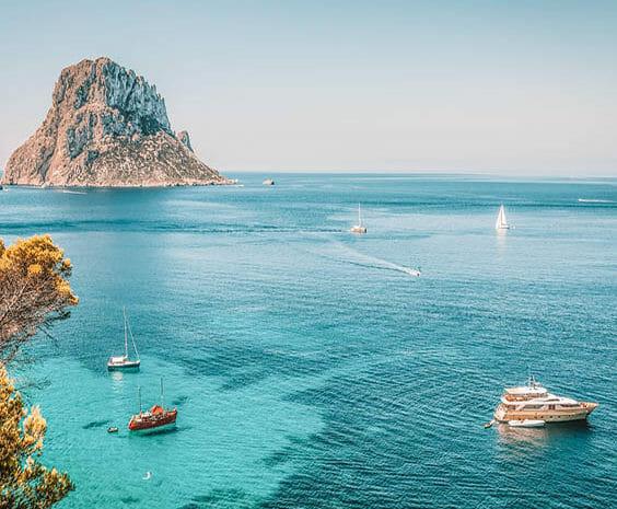 voyage à Ibiza sortie en bateau