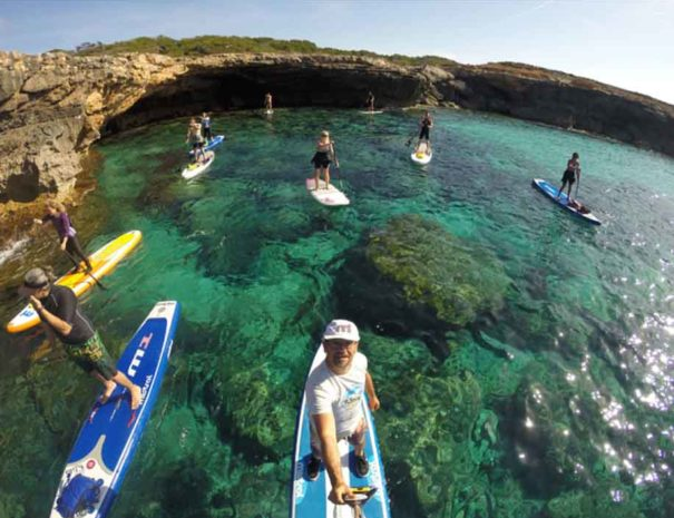 Group stand up paddle tour