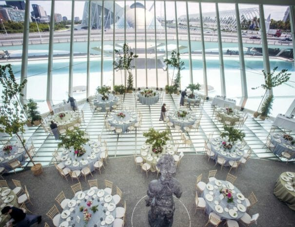 Corporate event in the City of Arts and Sciences in Valencia in Spain