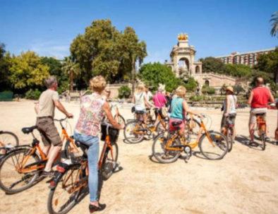 Bike tour team building activity Barcelona