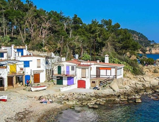 Costa brava fishermen houses