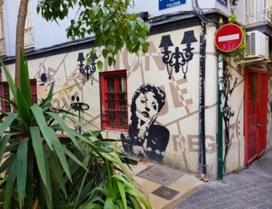 Arte callejero en Valencia España