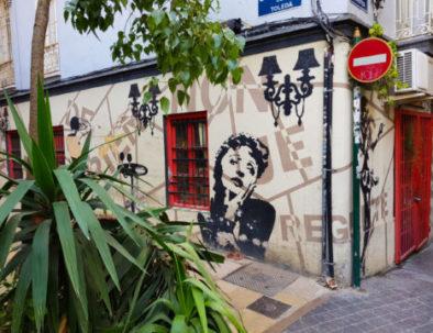Street art in Valencia in Spain