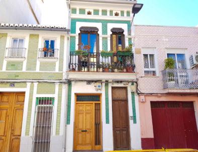 Coloridas casas en Valencia en España