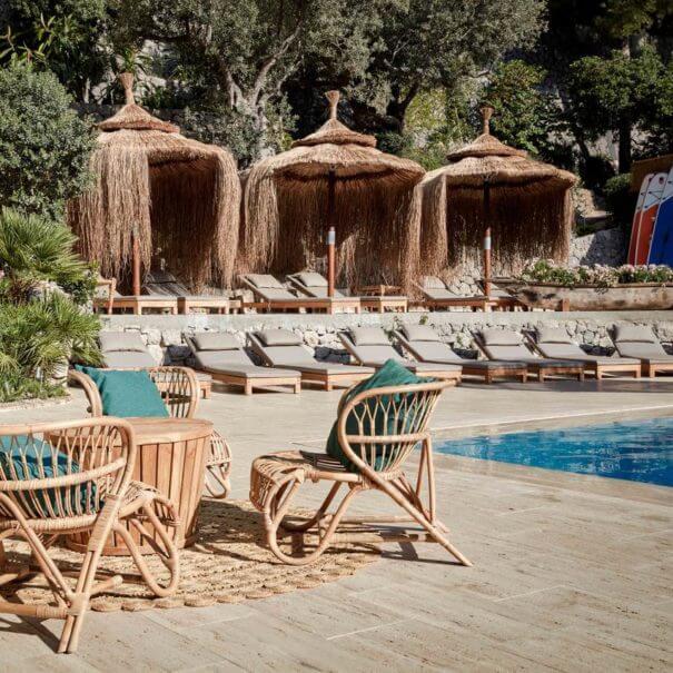 Swimming pool in Bikini hotel in Mallorca