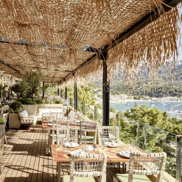 Terrace with a view in Bikini hotel in Mallorca