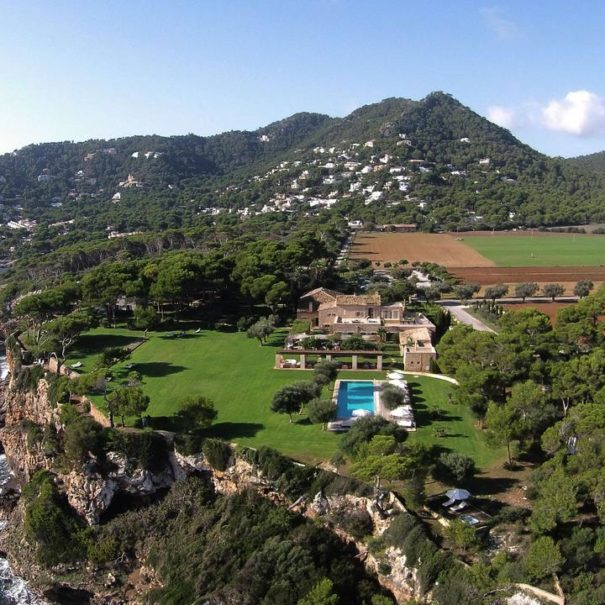 View over Can Simoneta hotel in Mallorca