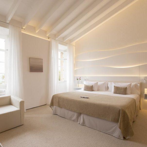 Bedroom in Can Simoneta hotel in Mallorca