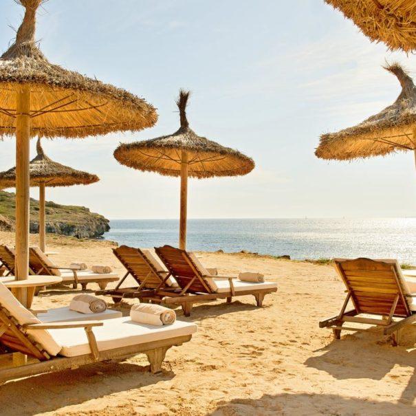 Private beach in Cap Rocat hotel in Mallorca