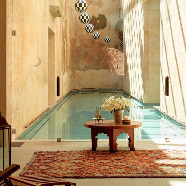 Spa pool in Cap Rocat hotel in Mallorca