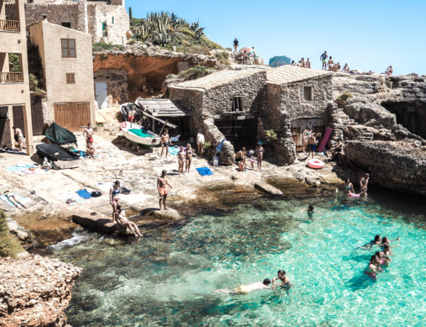 Secret beach in Mallorca