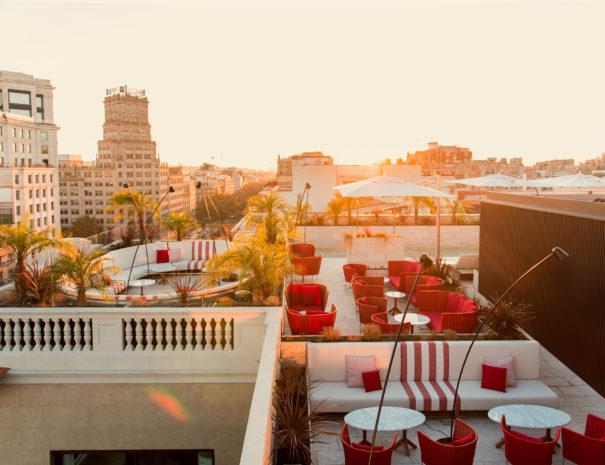 Azotea del hotel Almanac en Barcelona