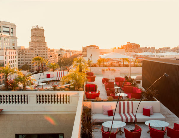 Pool and Rooftop Bar at Almanac Hotel in Barcelona