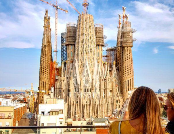 Azotea con vistas a la Sagrada Familia de Barcelona