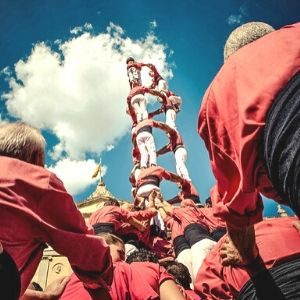Barcelona Team building-castellers human pyramid