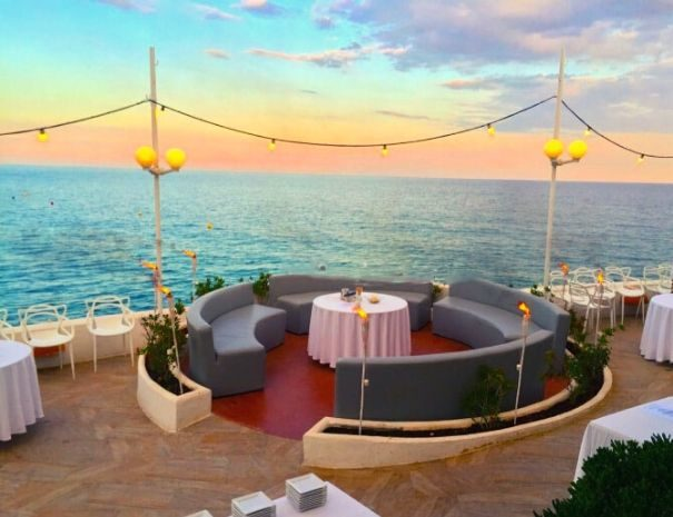Seaview venue and sunset