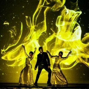 Espectáculo de danza, animaciones y mapping digital para una noche de gala en un espacio de evento