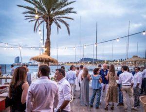 Diner cocktail Gala vue mer à Barcelone