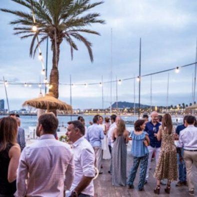 Diner cocktail Gala vue mer à Barcelone pour séminaire en Espagne