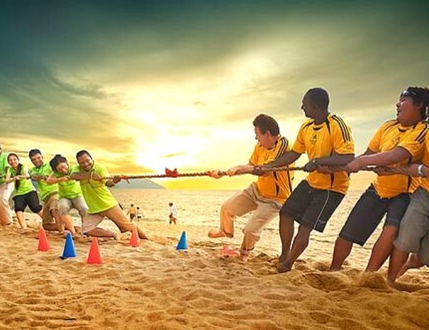 olympiades plage team building Barcelone