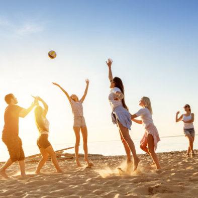 Team building beach volley barcelone