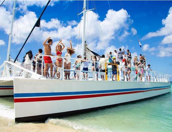 Catamaran cocktail party