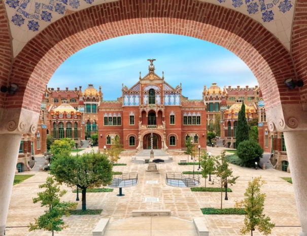 Sant Pau hospital venue in Barcelona
