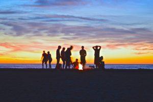 Soirée sur la plage à Ibiza