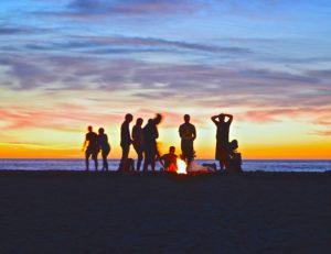Ibiza beach night event