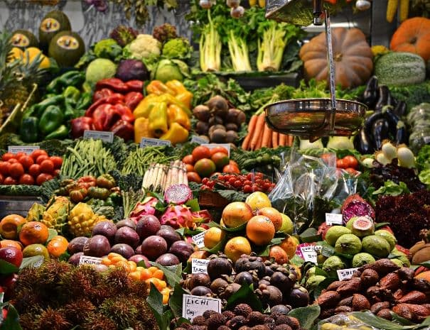 Barcelona guided by a local boqueria market