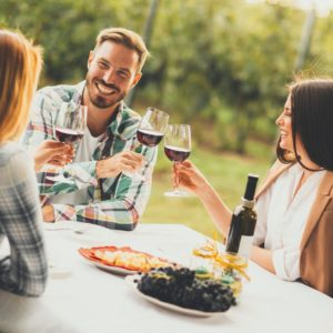 cata de vinos en el Penedés