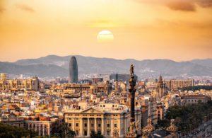 coucher soleil Barcelone séminaire Espagne