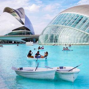 Activité bateau à la Cité des Arts et des Sciences de Valence