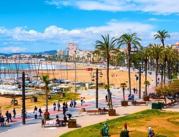 Sitges Beach front, perfect business trip destination