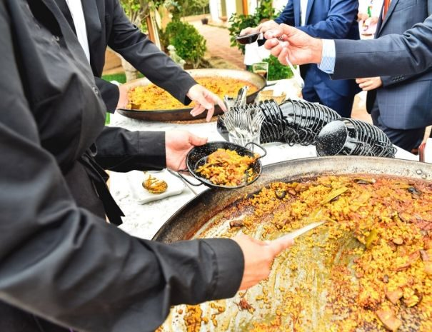 corporate event spain paella